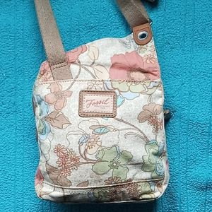 Fossil small cotton crossbody bag floral